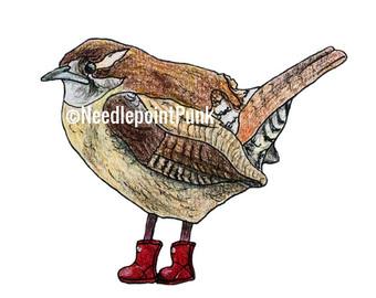 Wren clipart sparrow Wellies Funny Print Birds Wren