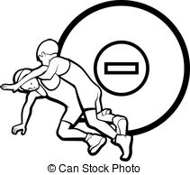 Wrestler clipart boy  white 439  vector