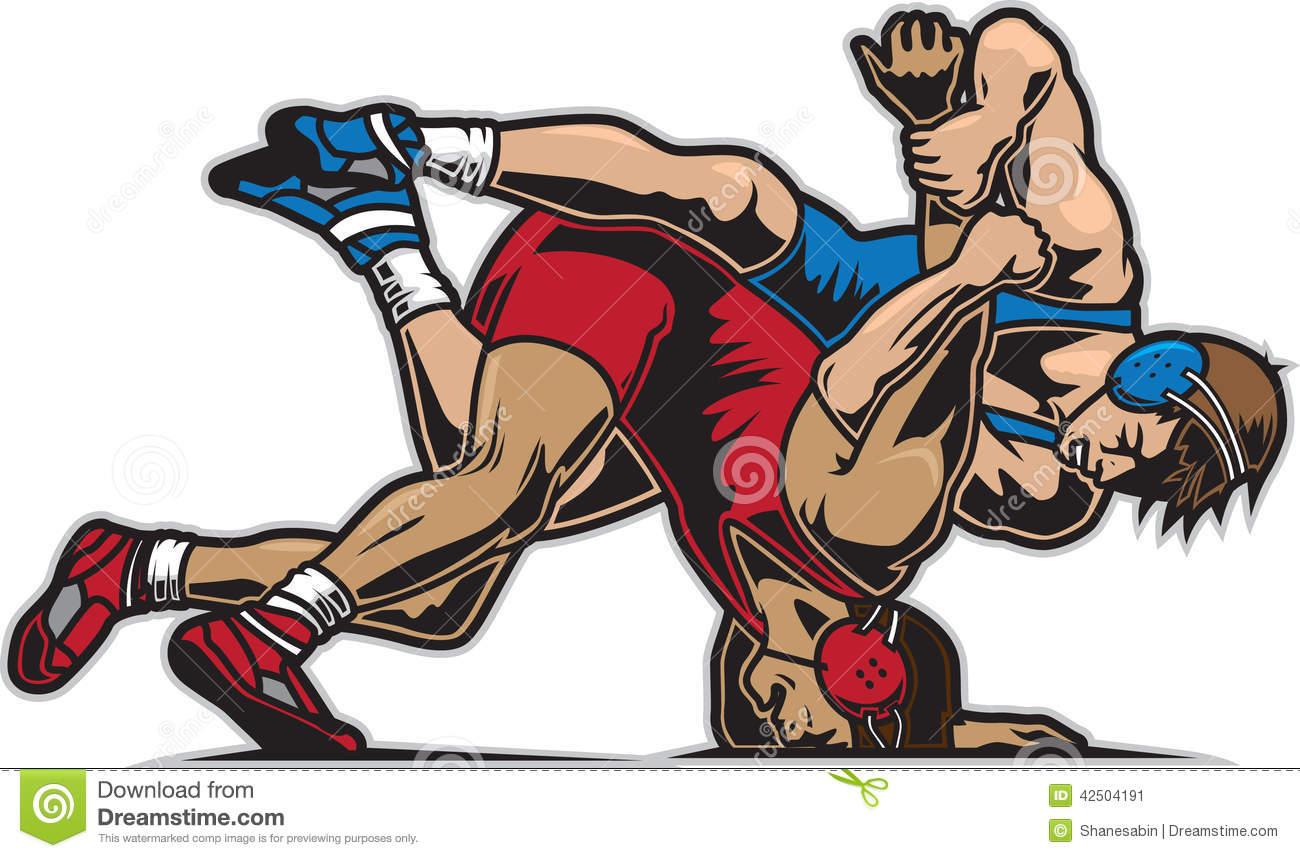 Wrestler clipart kushti Wrestling Illustrations 536 Stock 1300x858
