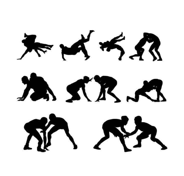 Wrestler clipart kushti 25+ Silhouettes Wrestling Best Player