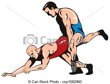 Wrestler clipart olympic sports Freestyle art Vector Freestyle csp1082960
