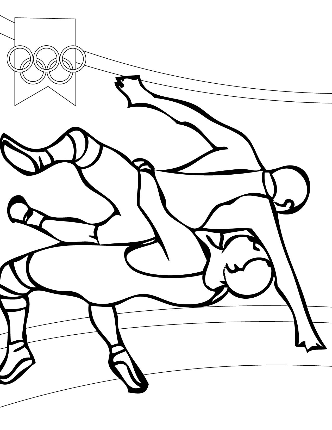 Wrestler clipart olympic sports SPORTS pages coloring  SPORTS