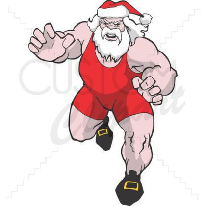 Wrestler clipart santa This Clipart at to Custom