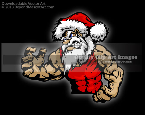 Wrestler clipart santa Art Clip Mascot Art Art