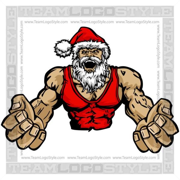 Wrestler clipart santa Vector Claus Santa Claus Clipart