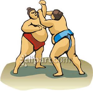 Wrestler clipart sumo wrestler Of Wrestlers Two Free Sumo