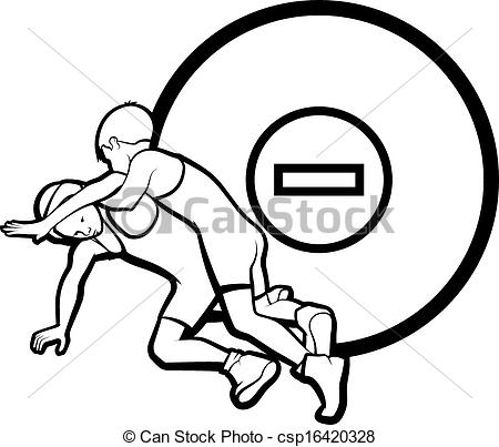 Wrestler clipart wrestling mat  Wrestling Vector Youth of