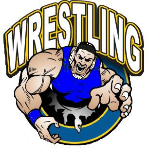 Wrestler clipart wrestling mat Wrestler  Silhouette roster schedule