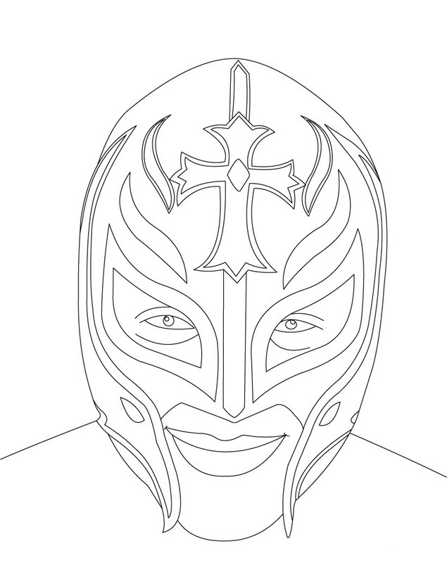 WWE clipart coloring page For Printable Pages WWE Coloring