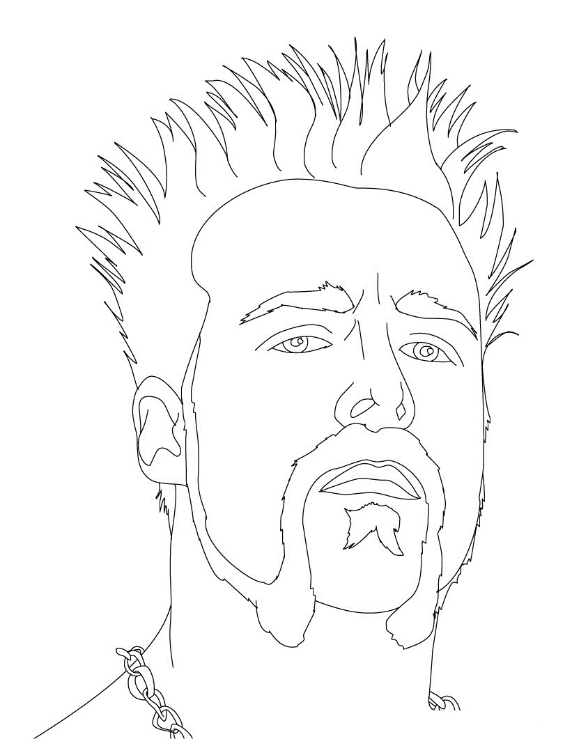 WWE clipart coloring page Kids coloring For wwe Coloring