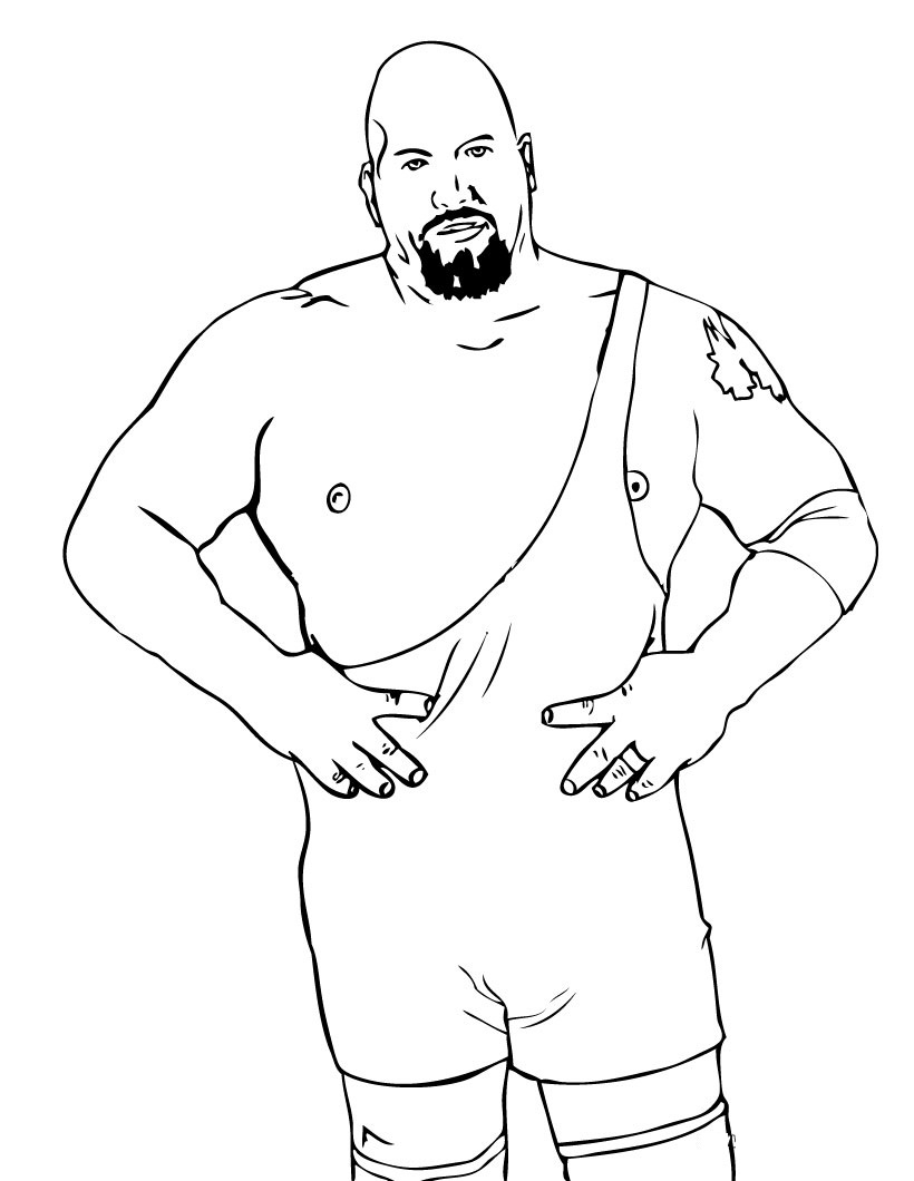 WWE clipart coloring page Birthday Pages Kee's Coloring WWE