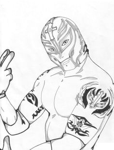 WWE clipart coloring page For Printable Pages WWE