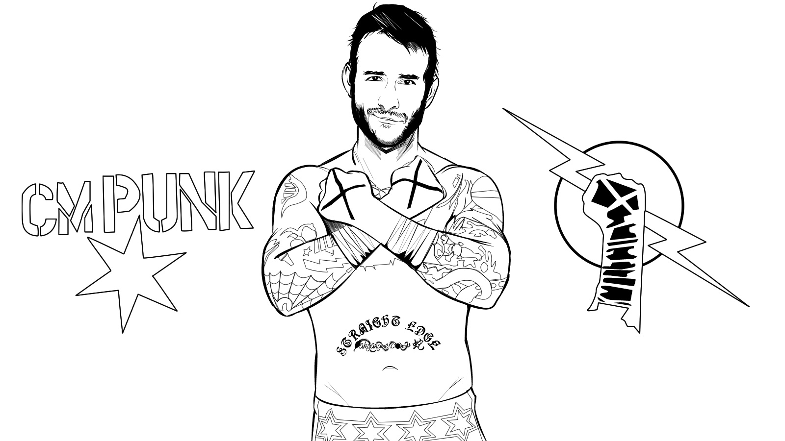 WWE clipart coloring page Coloring Coloring Wwe Wwe With