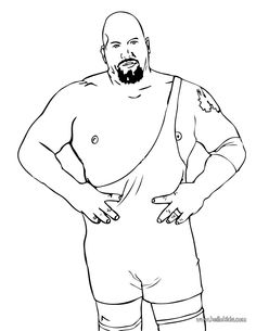 WWE clipart coloring page Page  show coloring big
