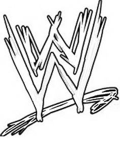 WWE clipart coloring page Coloring Wwe Kids Coloring WWE
