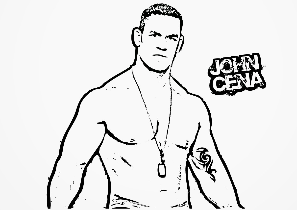 WWE clipart john cena Coloring wwe coloring pages is