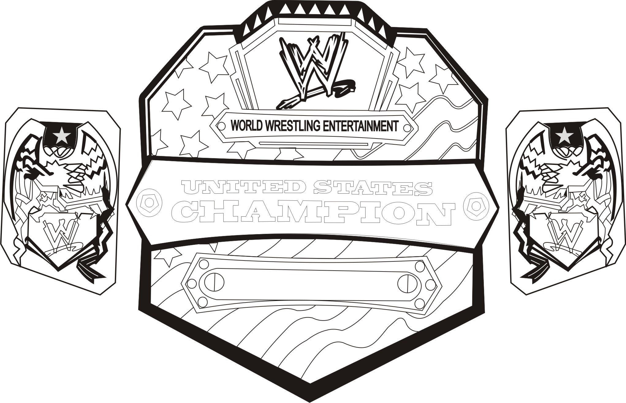 WWE clipart printable Pages On Best Coloring Coloring