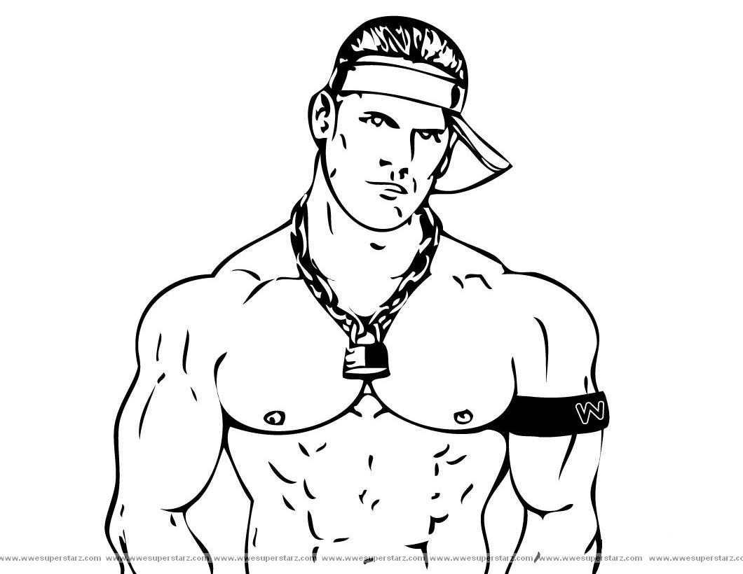 WWE clipart printable Pages Kids WWE Coloring Coloring