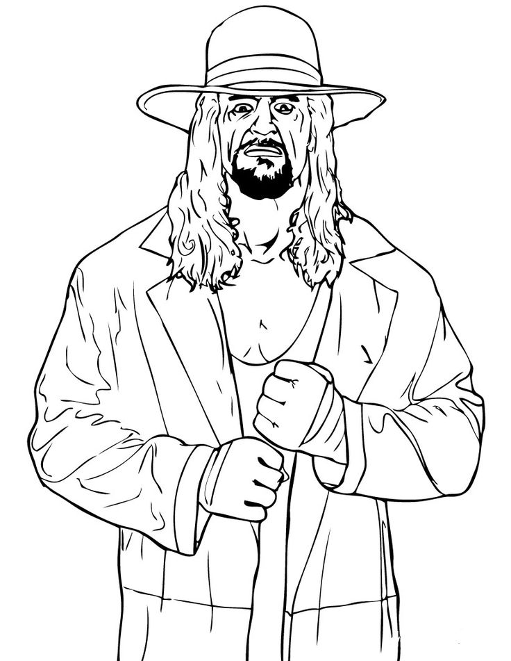 WWE clipart printable  2322 Coloring Pages Coloring