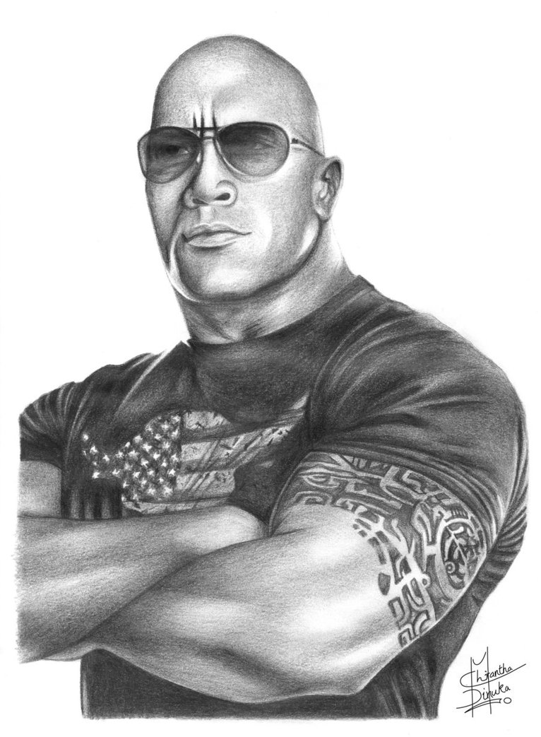 WWE clipart the rock The Pencil Chirantha Drawing Chirantha