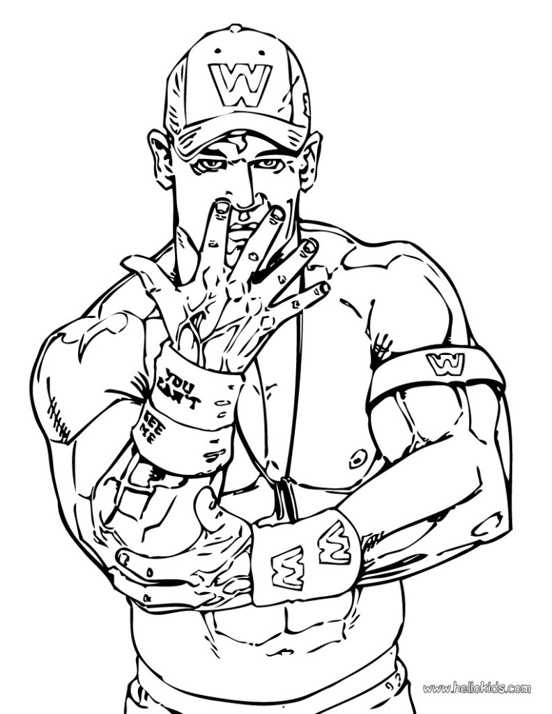 WWE clipart the rock John sketch WWE John