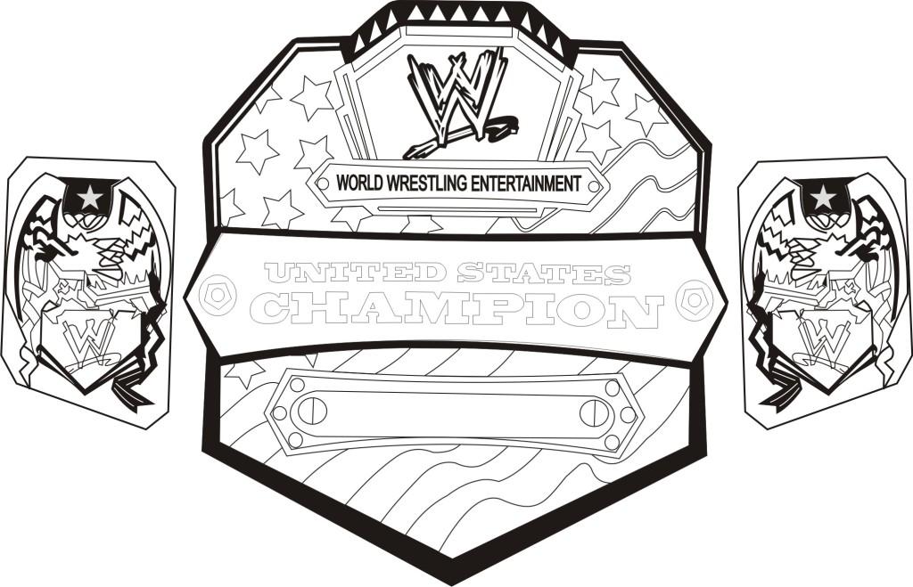 Wrestler clipart wrestling belt Championship championship pages ColoringStar belt