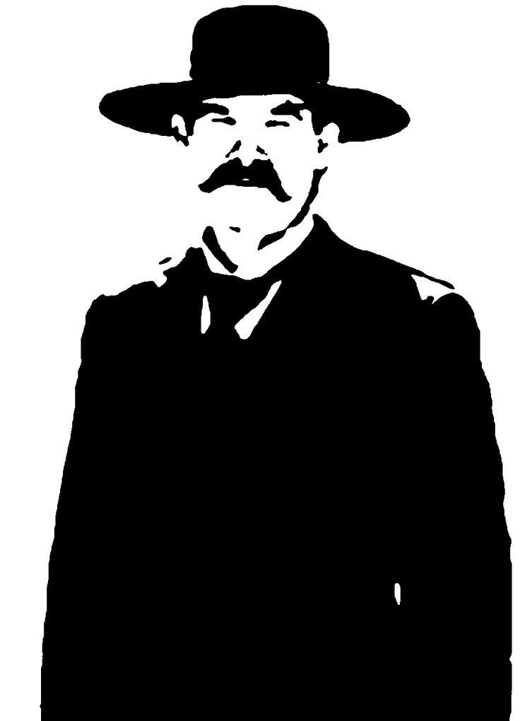 Wyatt Earp clipart black and white Doc Kurt Pinterest over (900×1247)