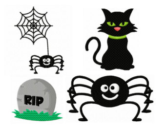 Wyatt Earp clipart cute halloween spider Embroidery Embroidery Designs Costume Etsy