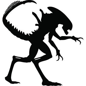Xenomorph clipart Vinyl Sticker Inspired Cut Alien
