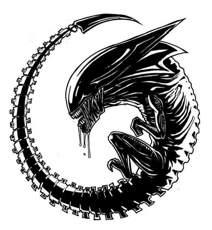 Xenomorph clipart Aliens Giger images predator tattoo