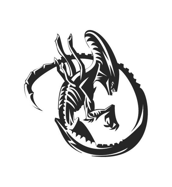 Xenomorph clipart deadpool Vs 이미지 xenomorph tattoo tattoo