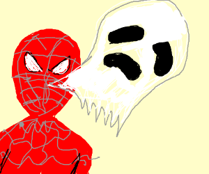 Xenomorph clipart deadpool A weird face spiderman ghost