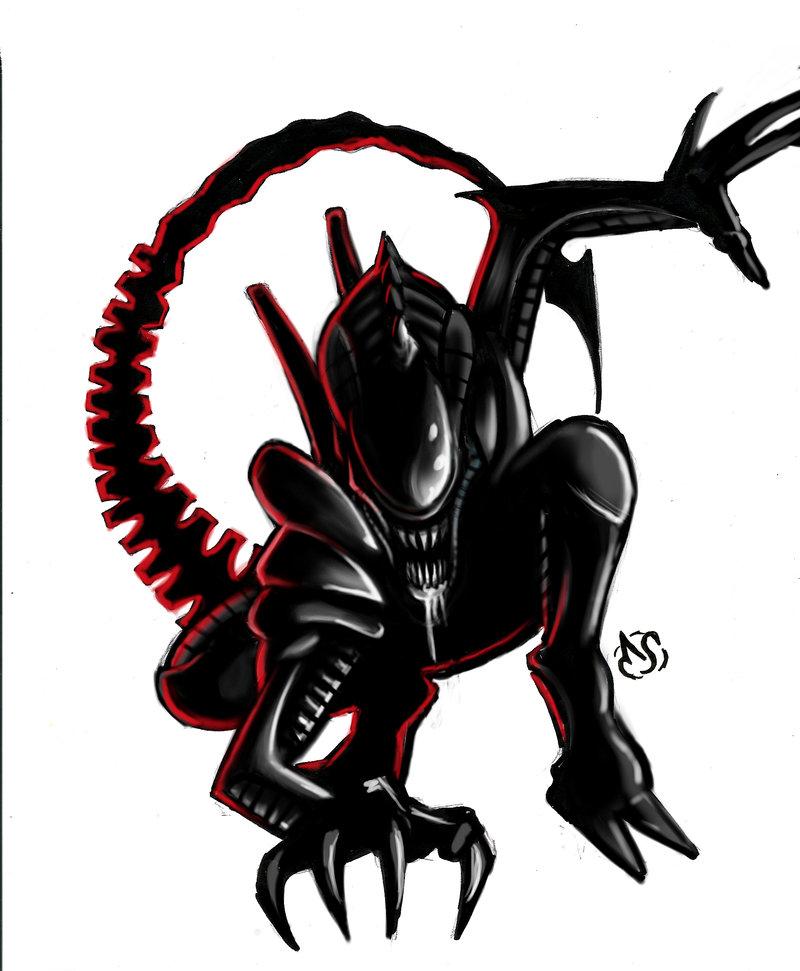 Xenomorph clipart deviantart Paint Electagonist DeviantArt Digi Electagonist