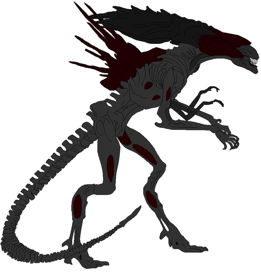 Xenomorph clipart deviantart Alien by Me on by