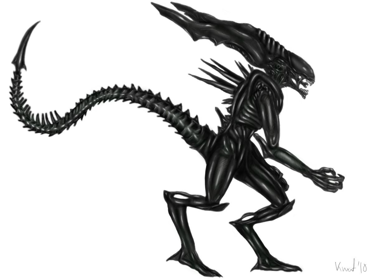 Xenomorph clipart dragon Xenomorph of the race) (&