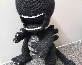 Xenomorph clipart fish Etsy Amigurumi Crochet Alien alien