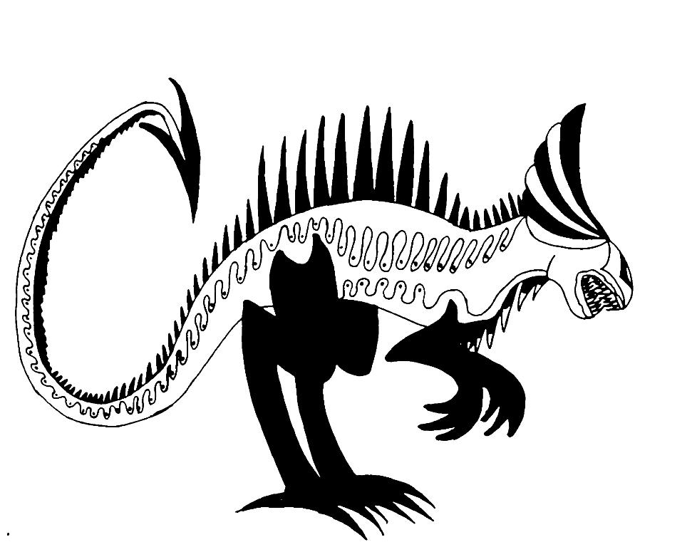 Xenomorph clipart fish © 2012 Relief 13 Bas