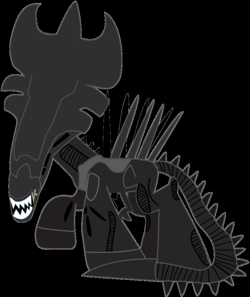 Xenomorph clipart mlp Queen DeviantArt by ALIENS: EJLightning007arts