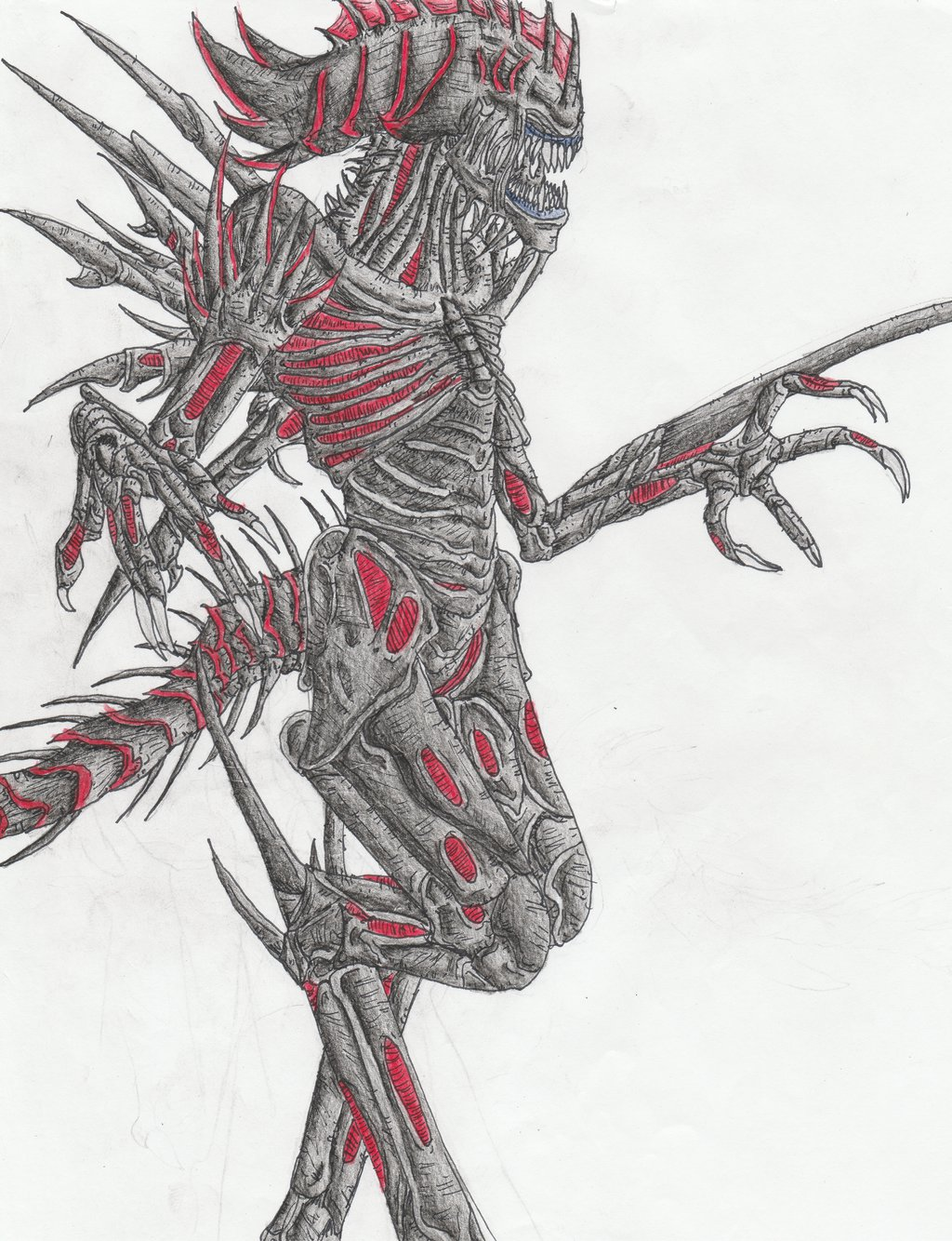 Xenomorph clipart praetorian On 6 armblades DeviantArt 46