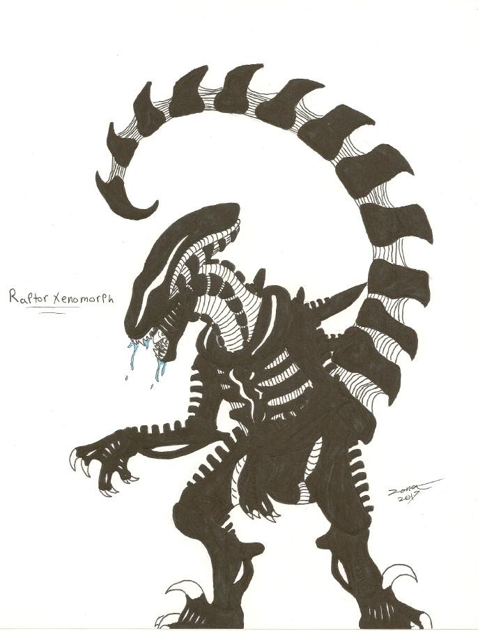 Xenomorph clipart raptor Xenomorph on Raptor Raptor AFlahrman