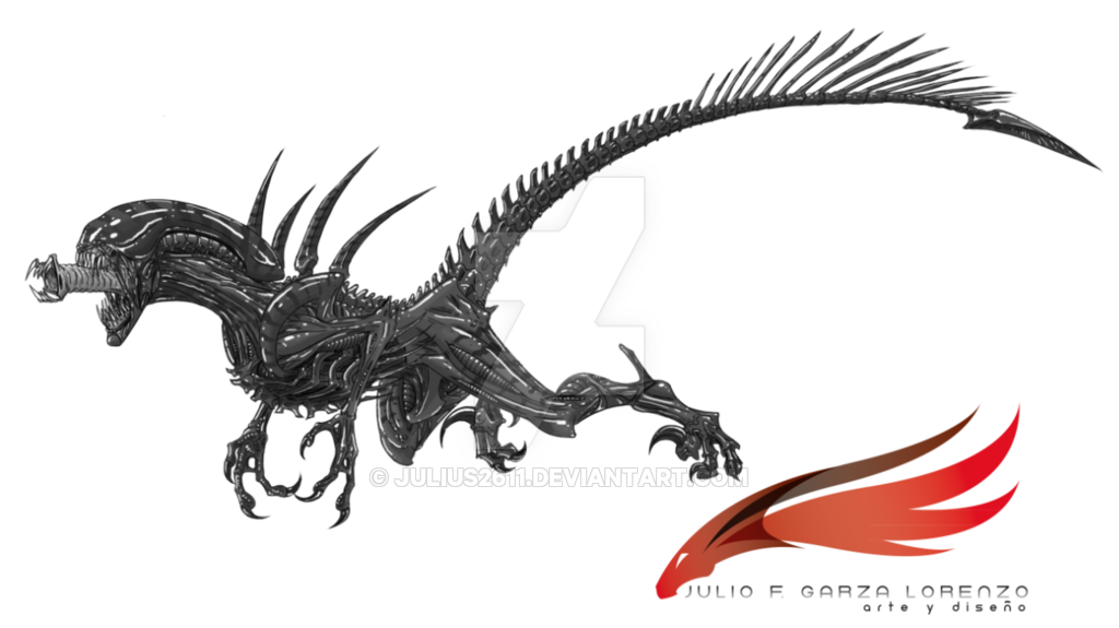 Xenomorph clipart raptor Raptor on alien alien julius2611