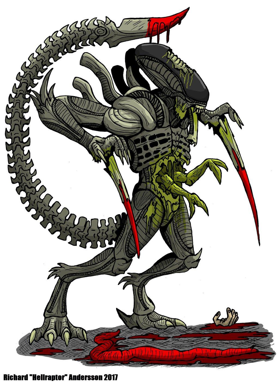 Xenomorph clipart raptor Hybrids 9 Art Hellraptor on
