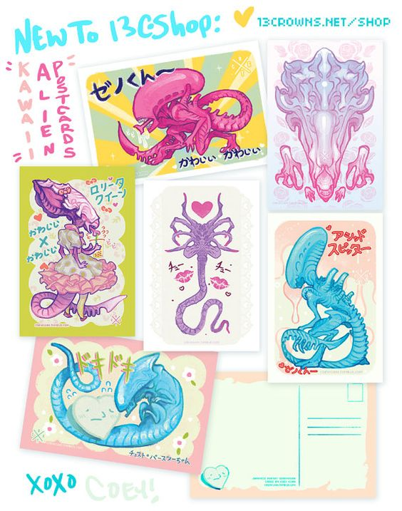 Xenomorph clipart six 4 Coey: of six by