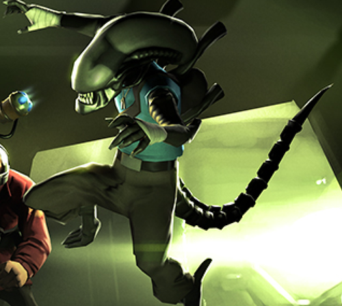 Xenomorph clipart team fortress 2 Scout xenomorph that alien is