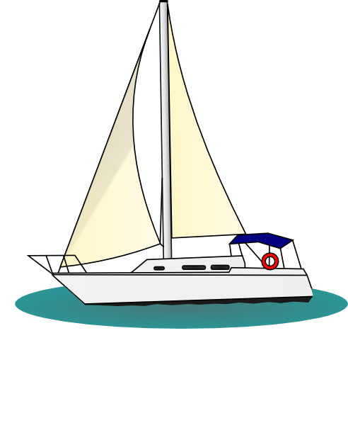 Sailboat clipart yatch Free Art Clker vector com