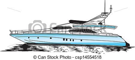 Yacht clipart luxury yacht Clip of  csp14554518 Motor