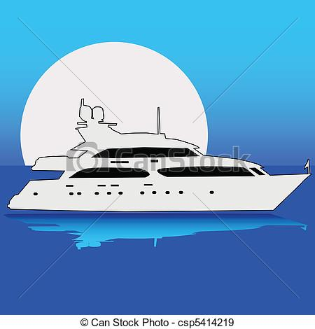 Yacht clipart luxury yacht On Clip Yacht the Vector