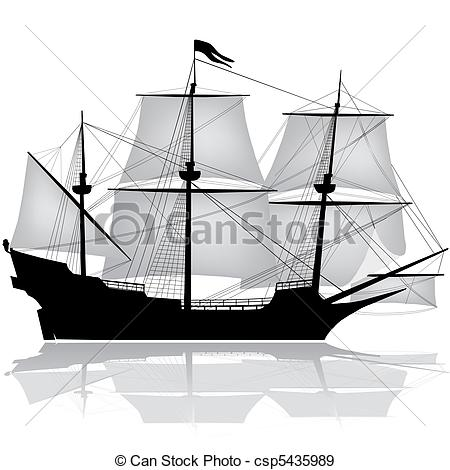 Yacht clipart old boat Csp5435989 EPS vector csp5435989 Clip