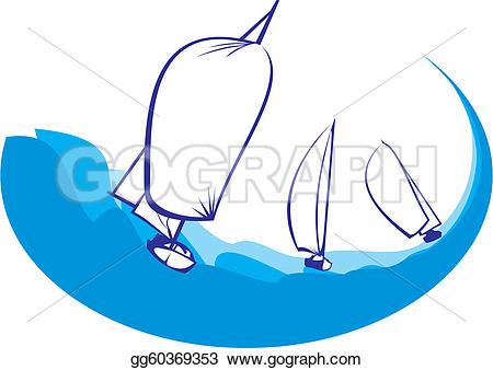 Yacht clipart regatta Drawing Vector Art voyage
