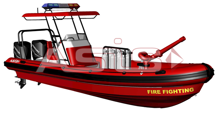 Boat clipart rescue boat RIB inflatable fighting boats Fire